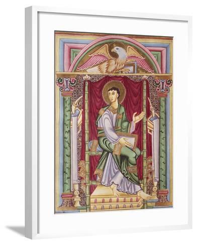 Saint John, Miniature from the Caesareus Upsaliensis Code, 1045, Manuscript--Framed Art Print