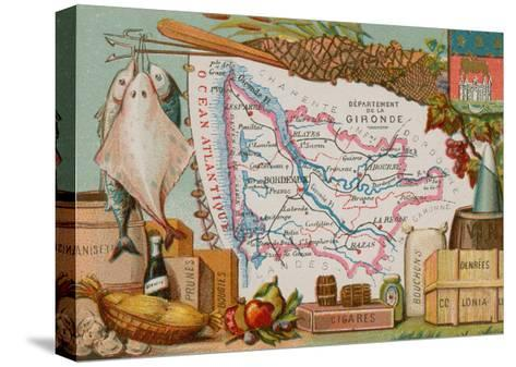 Department of Gironde--Stretched Canvas Print