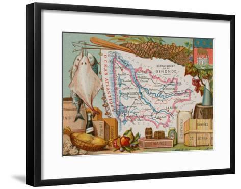 Department of Gironde--Framed Art Print