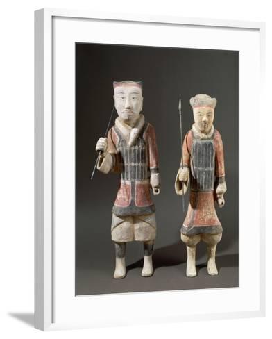 Warriors with Spears, Shanxi Region--Framed Art Print