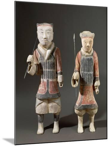 Warriors with Spears, Shanxi Region--Mounted Giclee Print