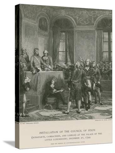 Installation of the Council of State--Stretched Canvas Print