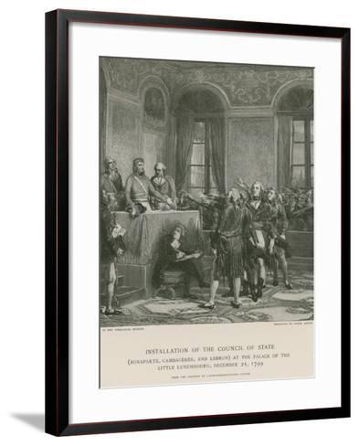 Installation of the Council of State--Framed Art Print