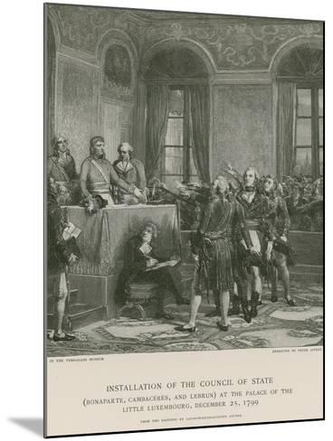 Installation of the Council of State--Mounted Giclee Print