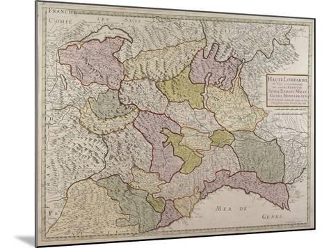 Map of North-Western Italy and Savoy--Mounted Giclee Print