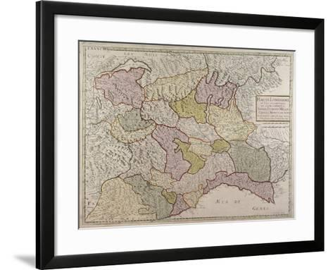 Map of North-Western Italy and Savoy--Framed Art Print