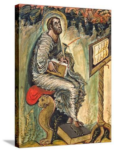 Saint Luke, Miniature from the Ebbo Gospels--Stretched Canvas Print