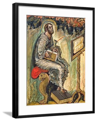 Saint Luke, Miniature from the Ebbo Gospels--Framed Art Print