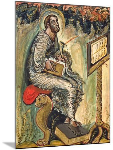 Saint Luke, Miniature from the Ebbo Gospels--Mounted Giclee Print