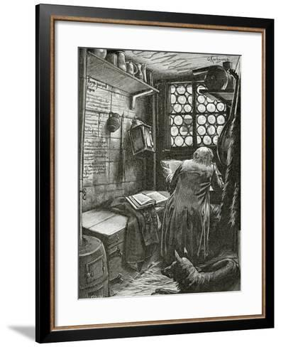 La Cahute -Illustration from L'Homme Qui Rit, 19th Century--Framed Art Print