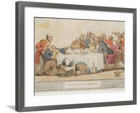"""The Dinner, Plate 9 from the Series """"The Comforts of Bath"""", 1798--Framed Art Print"""