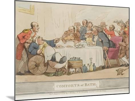 """The Dinner, Plate 9 from the Series """"The Comforts of Bath"""", 1798--Mounted Giclee Print"""