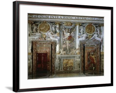 Frescoes by Piero Di Giovanni Bonaccorsi, known as Perin Del Vaga--Framed Art Print