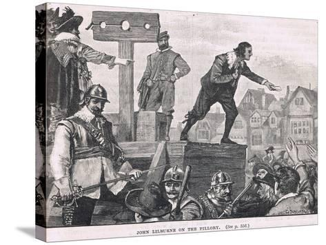 John Lilburne in the Pillory 1637--Stretched Canvas Print