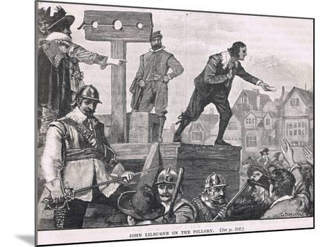 John Lilburne in the Pillory 1637--Mounted Giclee Print
