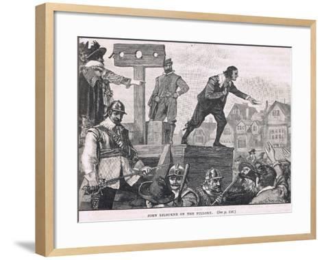 John Lilburne in the Pillory 1637--Framed Art Print