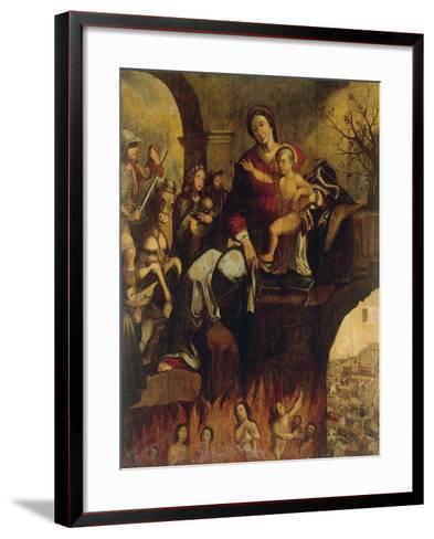 Madonna of Plague--Framed Art Print