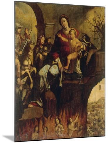 Madonna of Plague--Mounted Giclee Print