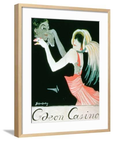 Advertisement for the 'Odeon Casino'--Framed Art Print