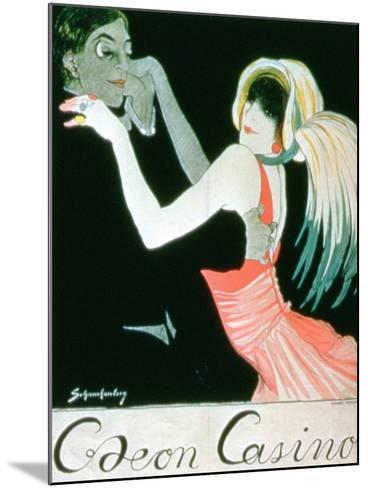 Advertisement for the 'Odeon Casino'--Mounted Giclee Print
