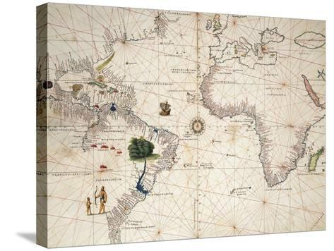 Africa, Europe and Part of Americas, from Atlas of the World in Thirty-Three Maps--Stretched Canvas Print