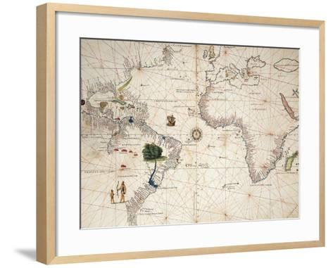 Africa, Europe and Part of Americas, from Atlas of the World in Thirty-Three Maps--Framed Art Print