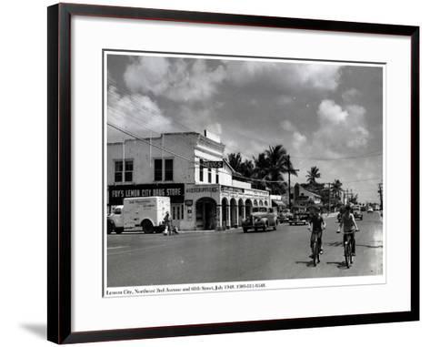 Lemon City, Northeast 2nd Avenue and 60th Street, July 1948--Framed Art Print