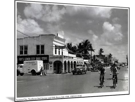 Lemon City, Northeast 2nd Avenue and 60th Street, July 1948--Mounted Photographic Print