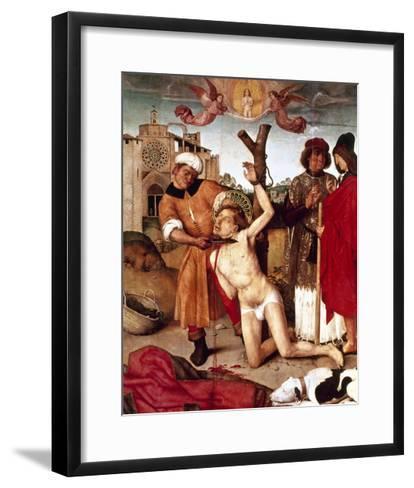 The Martyrdom of Saint Cucuphas, 1504-7. Spain--Framed Art Print