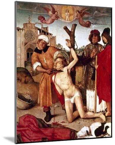 The Martyrdom of Saint Cucuphas, 1504-7. Spain--Mounted Giclee Print