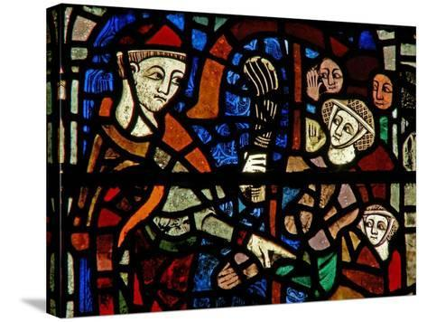 Window W38 Depicting the Administration of Penance--Stretched Canvas Print