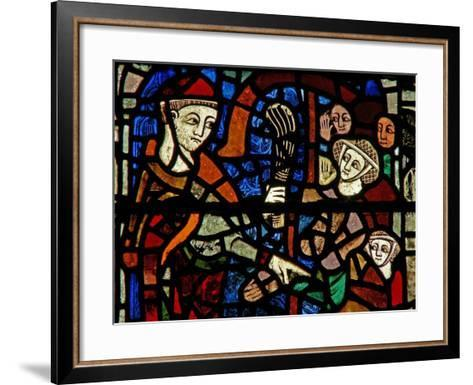 Window W38 Depicting the Administration of Penance--Framed Art Print