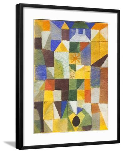 Urban Composition with Yellow Windows--Framed Art Print