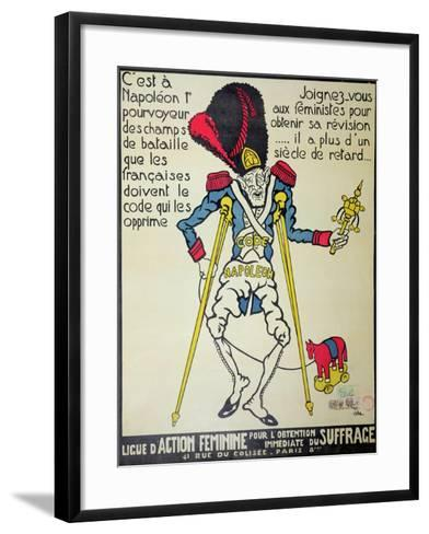 Poster Demanding the Repeal of the Napoleonic Code by the 'Ligue D'Action Feminine', 1926--Framed Art Print
