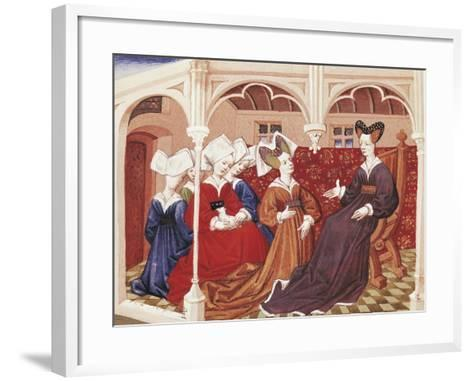 Iseult in the Company of Noble Women--Framed Art Print