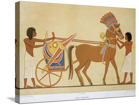 Reproduction of Fresco Depicting Princely Chariot of 18th Dynasty--Stretched Canvas Print