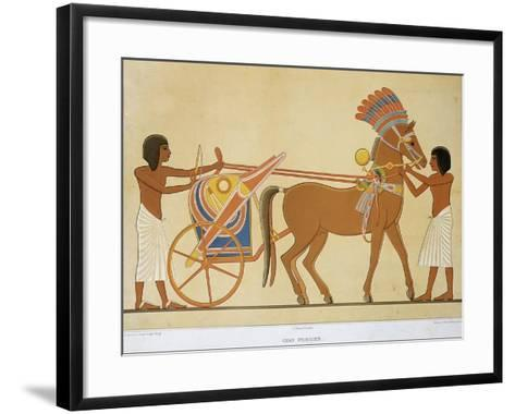 Reproduction of Fresco Depicting Princely Chariot of 18th Dynasty--Framed Art Print