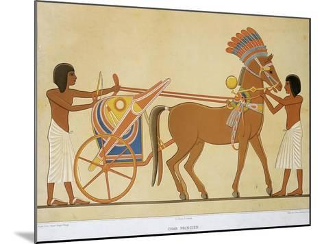 Reproduction of Fresco Depicting Princely Chariot of 18th Dynasty--Mounted Giclee Print