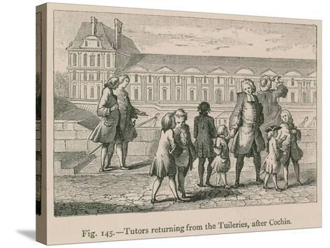 Tutors Returning from the Tuileries, after Cochin--Stretched Canvas Print