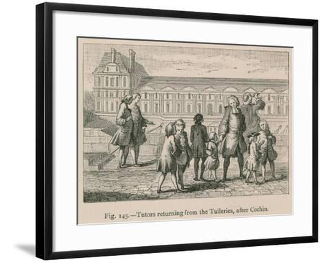 Tutors Returning from the Tuileries, after Cochin--Framed Art Print