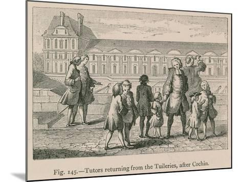 Tutors Returning from the Tuileries, after Cochin--Mounted Giclee Print