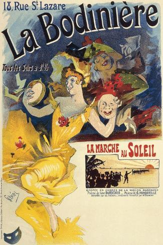 La Bodiniere, Poster by Jules Cheret--Stretched Canvas Print