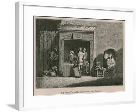 The Public Letter-Writer; after Boissieu--Framed Art Print