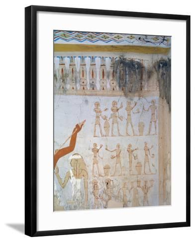 Egypt, Luxor, Tomb of Royal Cupbearer Suemnut, Mural Paintings, Votive Offerings--Framed Art Print