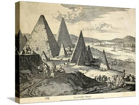 The Pyramids in Egypt from the Voyage--Stretched Canvas Print
