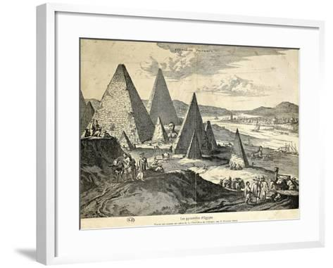 The Pyramids in Egypt from the Voyage--Framed Art Print
