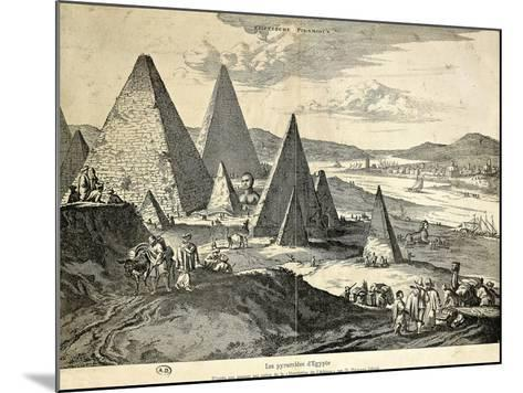 The Pyramids in Egypt from the Voyage--Mounted Giclee Print