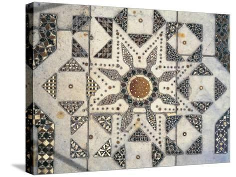 Geometric Patterns, Detail of Presbytery Floor, Cathedral Dedicated to Santa Maria Nuova, Monreale--Stretched Canvas Print