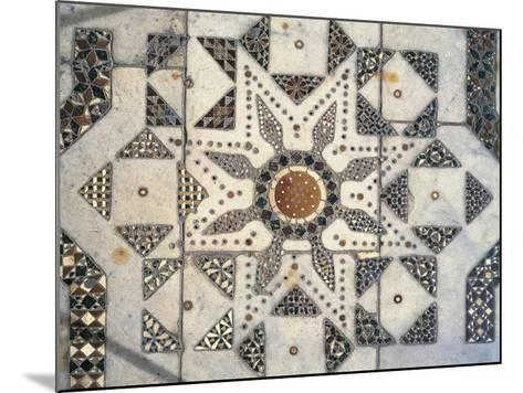 Geometric Patterns, Detail of Presbytery Floor, Cathedral Dedicated to Santa Maria Nuova, Monreale--Mounted Giclee Print