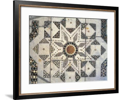 Geometric Patterns, Detail of Presbytery Floor, Cathedral Dedicated to Santa Maria Nuova, Monreale--Framed Art Print